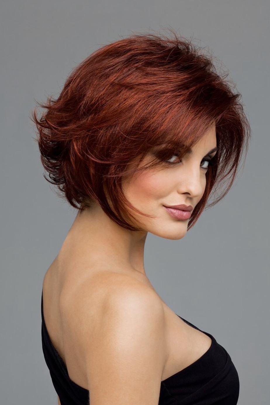Фото причесок коротких и средних длины волос